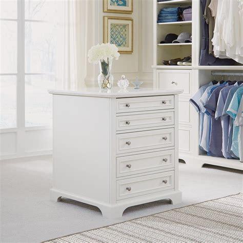 closet island home styles naples 5 drawer white closet island 5530 91