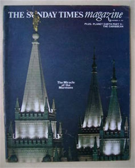 The Miracle Times The Sunday Times Magazine The Miracle Of The Mormons Cover 21 November 1971