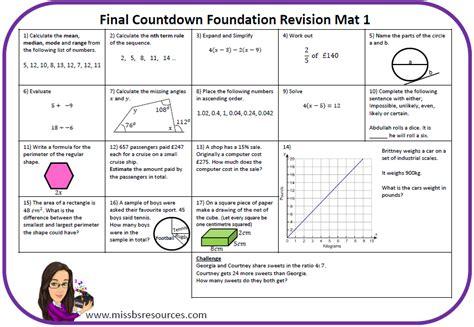 maths revision mats maths resources