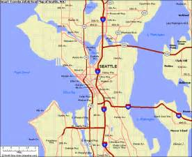 Seattle Tacoma Map by Map Of Seattle Wa My Blog