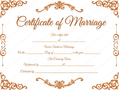 marriage certificate traditional corner marriage certificate template dotxes