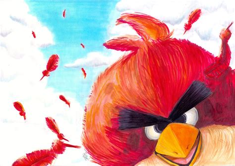 painting angry birds the angry bird by vivialacarte on deviantart