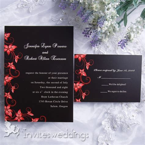Cheap Wedding Invitations Black by Cheap Black And Wedding Invitations Image 688333 On