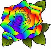Free Vector Graphic Rosa Flower Rainbow  Image On