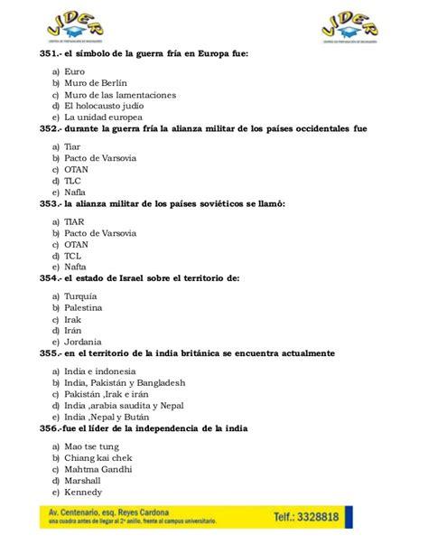 preguntas de historia de mexico banco de preguntas historia