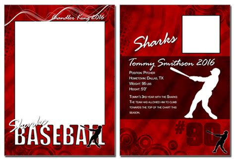 baseball trading card template baseball cutout trading card photoshop elements