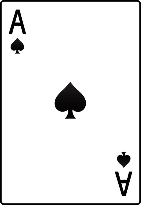 Ace Cards Template by Ace Of Spades Card Free Clip