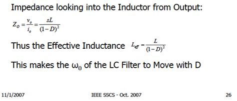 inductance henry formula effective inductance of inductor in boost converter