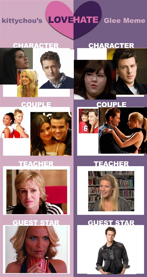 Glee Meme - glee meme by snapelover415 on deviantart