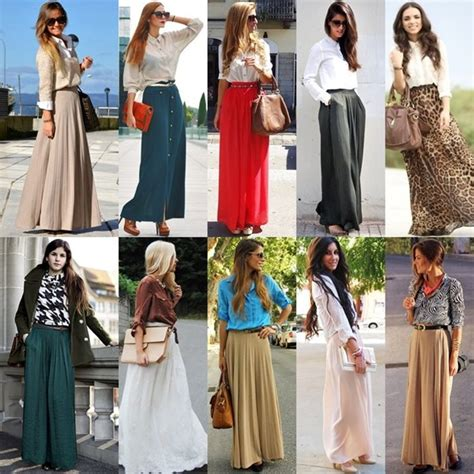 maxi skirt style with shirt collection fashion style