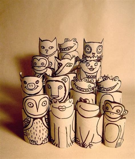 Toilet Paper Roll Crafts Animals - toilet paper roll animals kid crafts activities