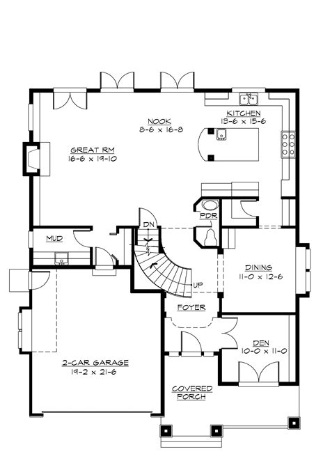 craftsman cottage floor plans craftsman bungalow first floor plan sdl custom homes