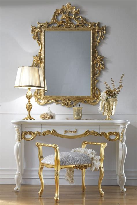 high end home decor high end italian dressing table and mirror set whimsical