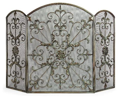 antique silver fireplace screen quot silver and quot
