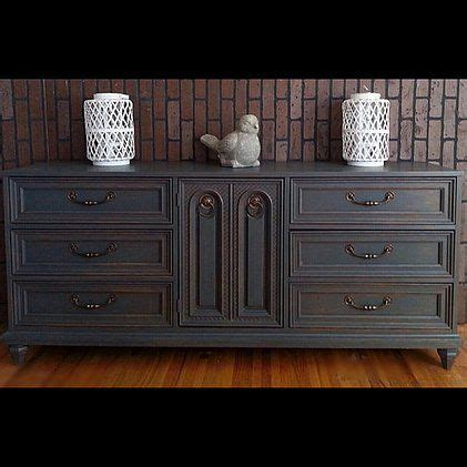 navy blue shabby chic painted buffet dresser painted