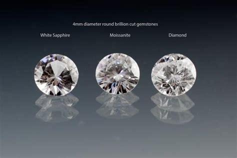 rubies vs diamonds worth white sapphire vs moissanite vs