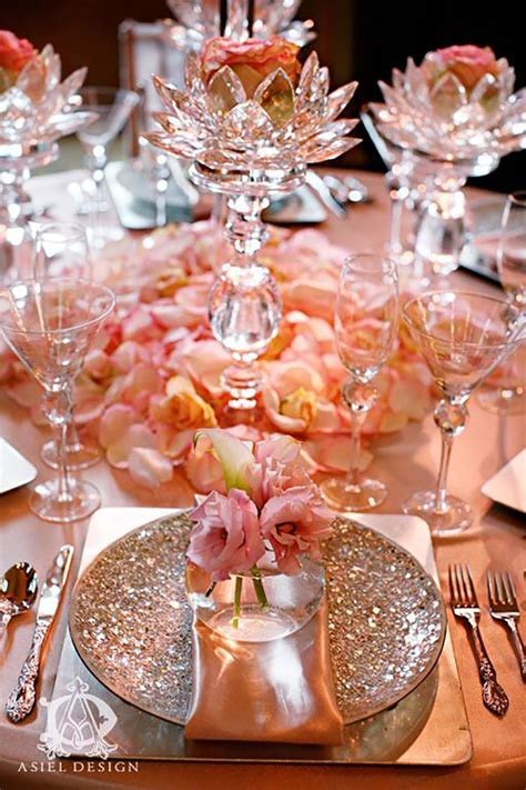 Pastel Peach Wedding Table Decorations   CHWV