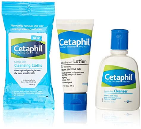 Cetaphil Travel Kit recommended products for children with kp 5 8 years