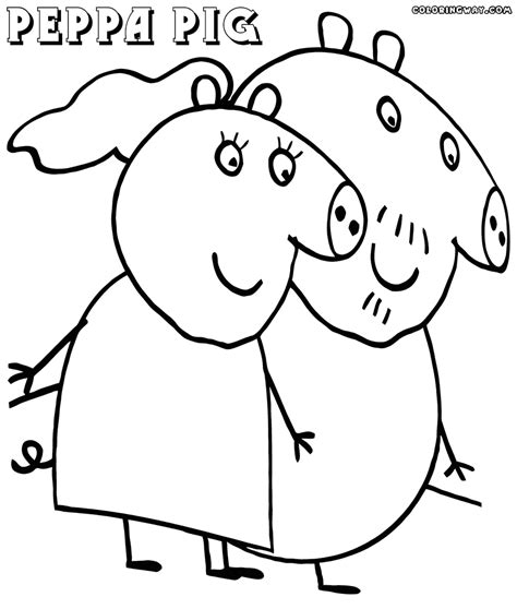 peppa pig mummy coloring pages peppa pig coloring pages coloring pages to download and