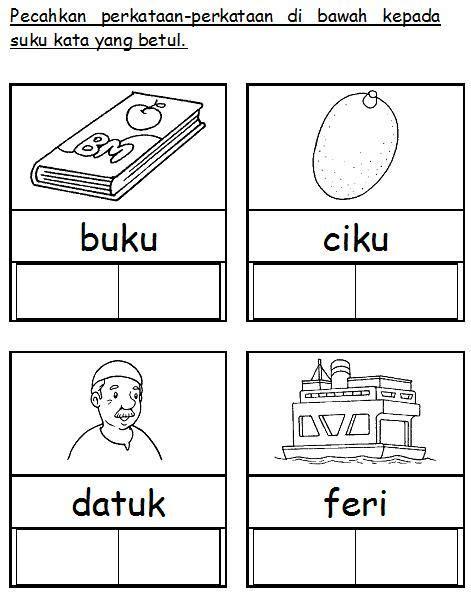 Reading Buku Latihan bahasa malaysia prasekolah latihan suku kata projects