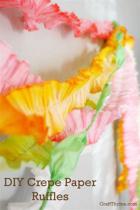 crepe paper craft crepe paper ruffle craft thyme