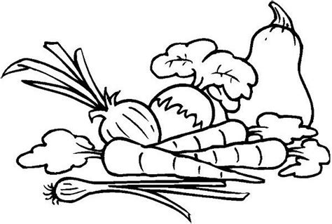 coloring book pages of vegetables free coloring pages of basket of vegetables