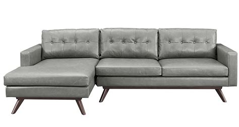 gray leather tufted sofa grey tufted sofa rhodes midcentury modern steel grey