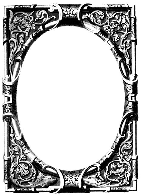 Things For Home Decoration by Free Vintage Image Ornate Frame Oh So Nifty Vintage