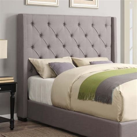 gray upholstered headboard king pulaski shelter linen upholstered king headboard ash gray headboards by homesquare