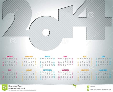 design calendar simple simple 2014 calendar design royalty free stock photography