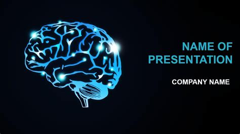 Brain Activity Powerpoint Template Background For Presentation Brain Ppt Template