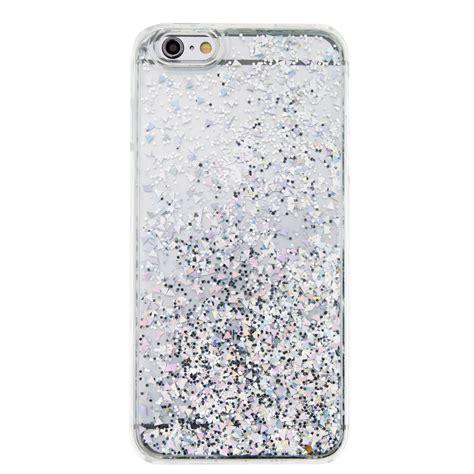 Glitter Skin Iphone 6 6s Silver glitter bling slim plastic back protective cover skin