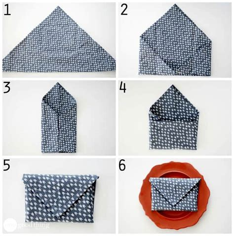 Simple Napkin Origami - simple and napkin folds 183 one thing by jillee