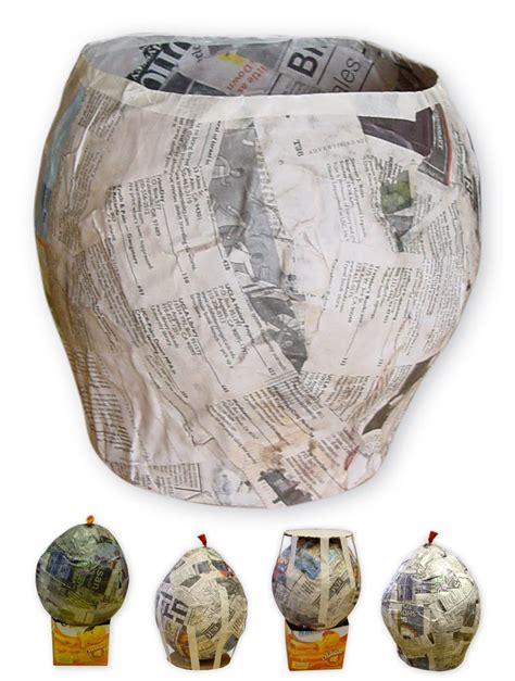 How To Make Paper Mache With Newspaper - paper mache bowl part 1 projects for