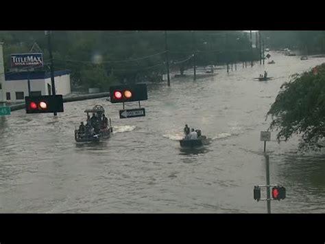 boat driving through water spout hurricane harvey san leon tx doovi