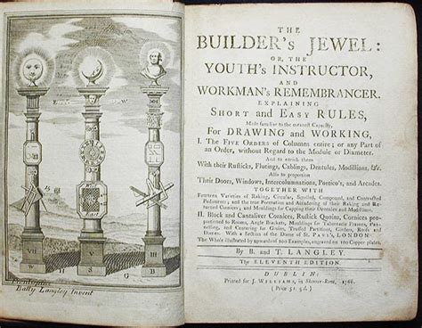 architectural pattern books history the builder s jewel or the youth s instructor and