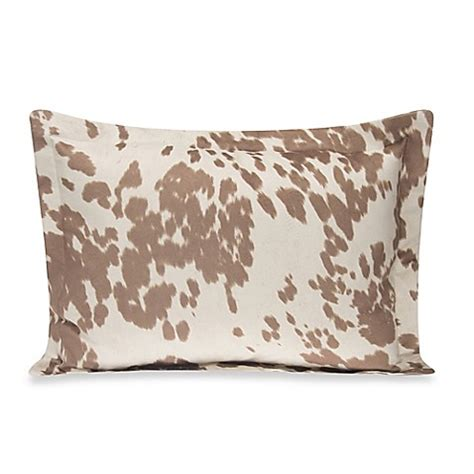 cow print bedding glenna jean happy trails large pillow sham in tan cow