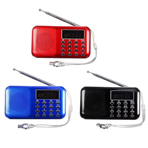 Usb Digital Player mini portable lcd digital fm radio speaker usb micro sd tf