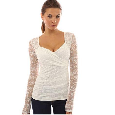 K Blouse sleeve blouse floral blouse mesh lace blouses white lace blouse autumn plus size