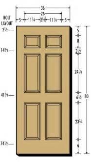 standard door dimensions home design