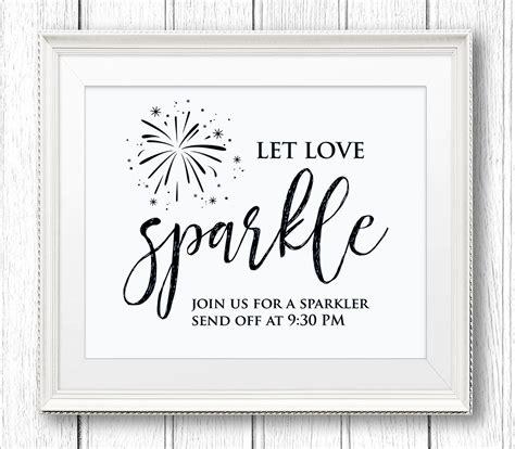 sparkler send off sign let love sparkle diy wedding sign
