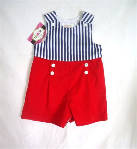 Jumper Baby Blue Sailor nautical collection sailor baby boy romper toddler by