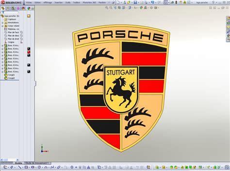 Porsche Zeichen by Logo Porsche 3d Cad Model Library Grabcad