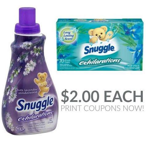 printable coupons fabric softener snuggle exhilarations fabric softener walgreens