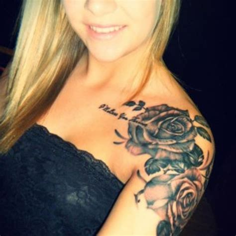 black rose tattoos for girls 53 sweet sleeve shoulder tattoos