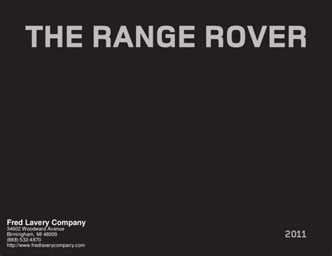 fred lavery range rover 2011 land rover range rover detroit mi fred lavery company