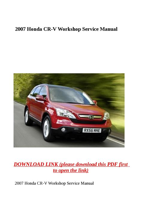 where to buy car manuals 2007 honda cr v electronic throttle control 2007 honda cr v workshop service manual by yhkj issuu