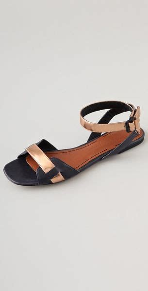 black and gold flat shoes black and gold metallic sandals black gold