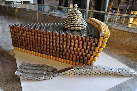 canned food sculpture ideas national public service week