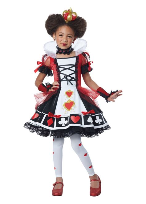 queen  hearts girls costume  costumes